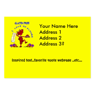 Gluten-Free - I Love GF Flour Design Business Card Template