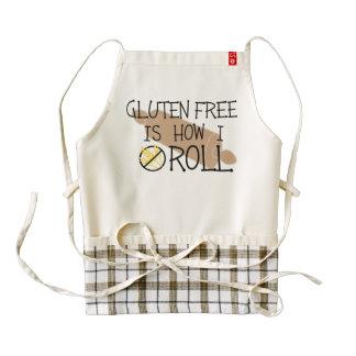 Gluten Free Is How I Roll Celiac Chef Zazzle HEART Apron