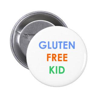 Gluten free kid Celiac Disease Button