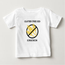 Gluten Free Kid Personalized No Gluten Celiac Baby T-Shirt