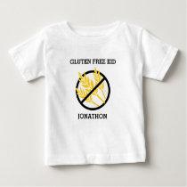 Gluten Free Kid Personalized No Gluten Celiac Baby T-Shirt