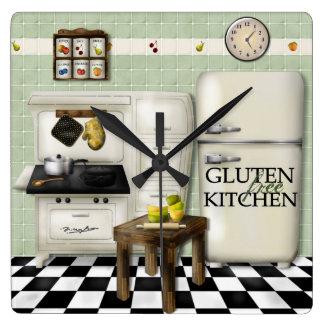 Gluten Free Kitchen Green Clock