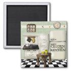 Gluten Free Kitchen Green Magnet