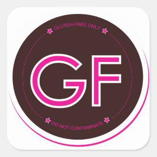 Gluten-Free Label (Square) Square Sticker