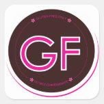 Gluten-Free Label (Square) Sticker