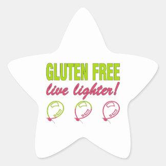Gluten Free Live Lighter! Gluten Allergy Celiac Star Sticker