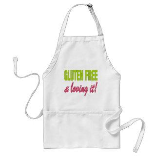 Gluten Free & Loving it! Celiac Disease Adult Apron