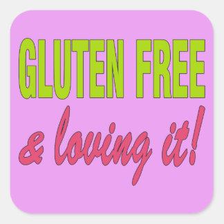 Gluten Free & Loving it! Celiac Disease Square Sticker