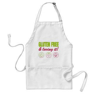Gluten Free & Loving it! Gluten Allergy Celiac Adult Apron