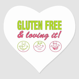 Gluten Free & Loving it! Gluten Allergy Celiac Heart Sticker