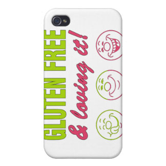 Gluten Free & Loving it! Gluten Allergy Celiac iPhone 4 Cover
