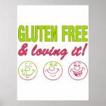 Gluten Free & Loving it! Gluten Allergy Celiac Posters