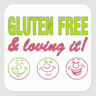 Gluten Free & Loving it! Gluten Allergy Celiac Square Sticker