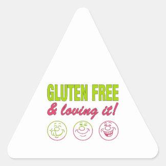 Gluten Free & Loving it! Gluten Allergy Celiac Triangle Sticker