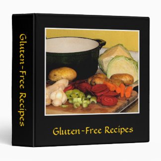 Gluten-Free Recipes 3 Ring Binders