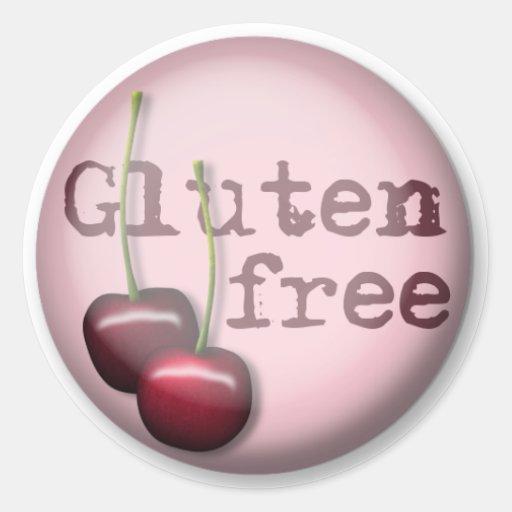 Gluten Free Stickers - Cherry