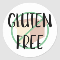 Gluten Free Symbol No Wheat or Bread Classic Round Sticker