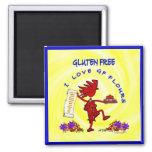 Gluten-Free Whimsical Design Fridge Magnet