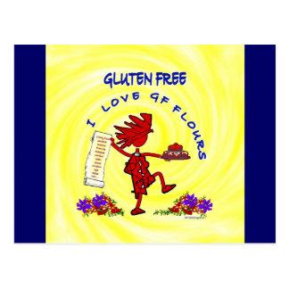 Gluten-Free Whimsical Design Post Card