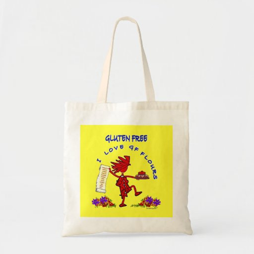 Gluten-Free Whimsical Design Tote Bag