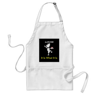 Gluten-Free Whimsy Silhouette Design Adult Apron