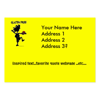 Gluten-Free Whimsy Silhouette Design Large Business Card