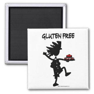 Gluten-Free Whimsy Silhouette Design Fridge Magnet