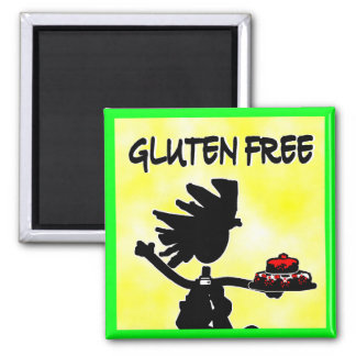 Gluten-Free Whimsy Silhouette Design Magnet