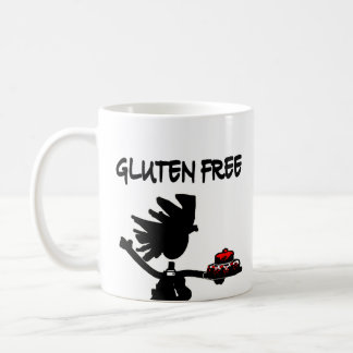Gluten-Free Whimsy Silhouette Design Classic White Coffee Mug
