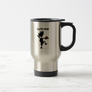 Gluten-Free Whimsy Silhouette Design Travel Mug