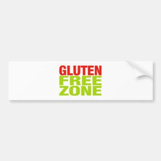 Gluten Free Zone (celiac disease) Bumper Sticker