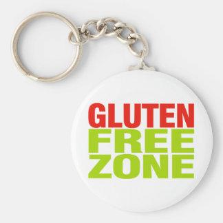Gluten Free Zone (celiac disease) Keychain