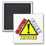 Gluten Free Zone (celiac disease - wheat allergy) 2 Inch Square Magnet