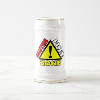 Gluten Free Zone (celiac disease - wheat allergy) Beer Stein