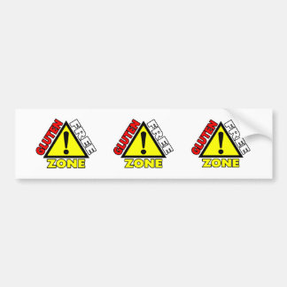 Gluten Free Zone (celiac disease - wheat allergy) Bumper Sticker