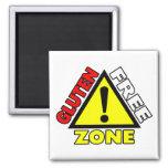 Gluten Free Zone (celiac disease - wheat allergy) Fridge Magnet