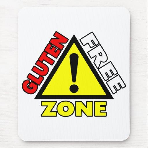 Gluten Free Zone (celiac disease - wheat allergy) Mouse Pad