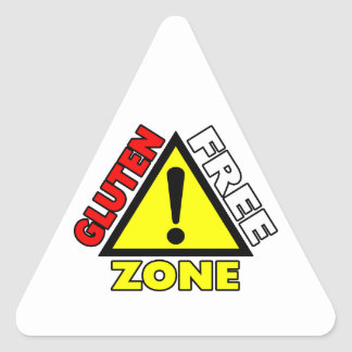 Gluten Free Zone (celiac disease - wheat allergy) Triangle Sticker