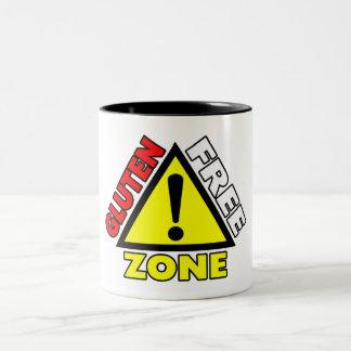 Gluten Free Zone (celiac disease - wheat allergy) Two-Tone Coffee Mug