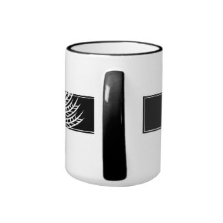 Gluten Free'D - Classic Black, White & Grey Logo Ringer Coffee Mug