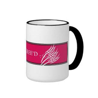Gluten Free'D - Classic Hot Pink Logo Ringer Coffee Mug