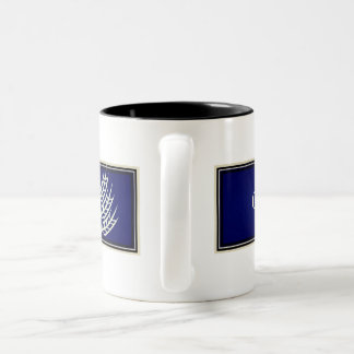 Gluten Free'D - Classic Logo in Blueberry Two-Tone Coffee Mug