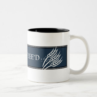 Gluten Free'D - Classic Logo in Charcol Two-Tone Coffee Mug