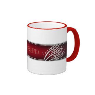 Gluten Free'D - Classic Logo in Red Velvet Ringer Coffee Mug