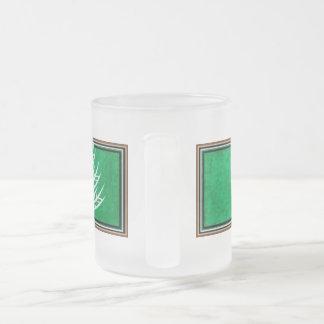 Gluten Free'D - Classic Logo in Spearmint 10 Oz Frosted Glass Coffee Mug