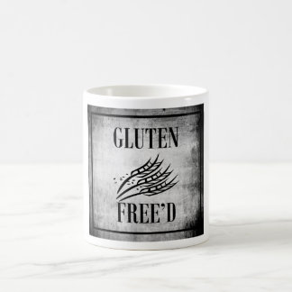 Gluten Free'D Rustic White & Black Square Logo Mug