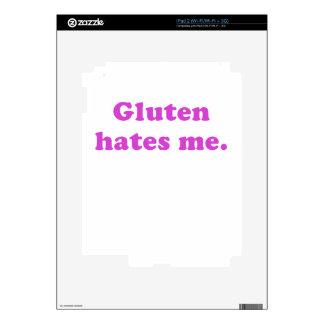 Gluten Hates Me iPad 2 Skin
