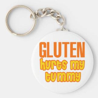Gluten Hurts My Tummy Basic Round Button Keychain