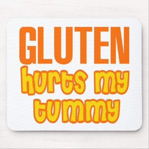 Gluten Hurts My Tummy Mouse Pad