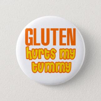 Gluten Hurts My Tummy Pinback Button